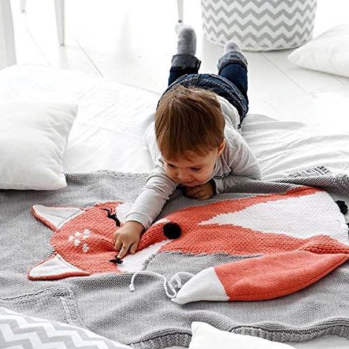 Makaor Knitting Blanket Bedding Blanket Baby Throw Crib Blanket For Baby