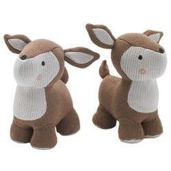 Knit Deer Friends Book End