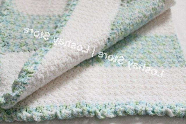Handmade Knitted Blanket Toddler Throw Unisex