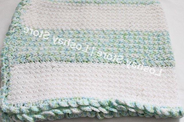 knitted blanket baby toddler infant crib bedding
