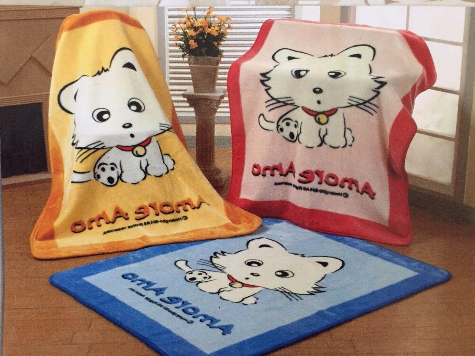 korean mink baby child blanket throw kitty