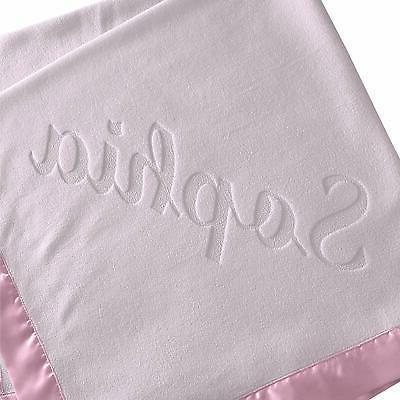 Large Personalized Blanket - 36x36 Trim, Fleece