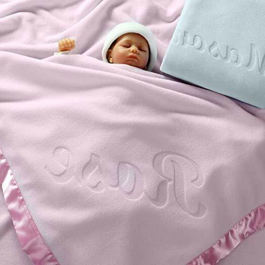 Large Personalized Baby - Inch, Satin Trim, Fleece