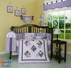 GEENNY Lavender Butterfly Bedding Set 13 Piece Crib Girl Bo