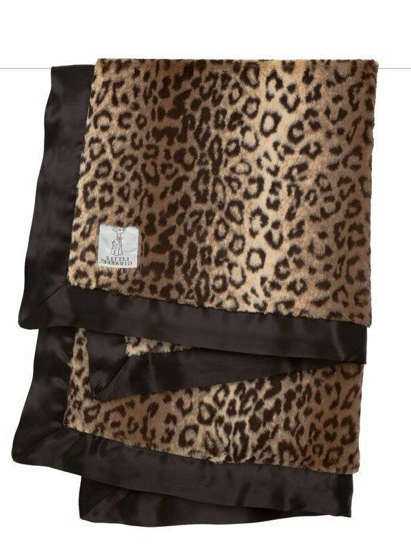 Little Giraffe Leopard Print Blanket, Size One Size - Brown