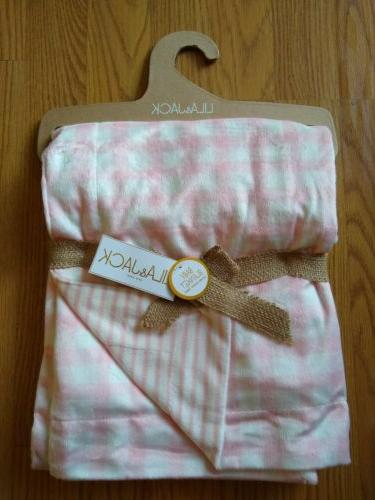 lila and jack baby blanket girls checker