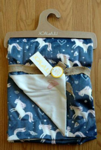 lila and jack baby blanket unicorns girls