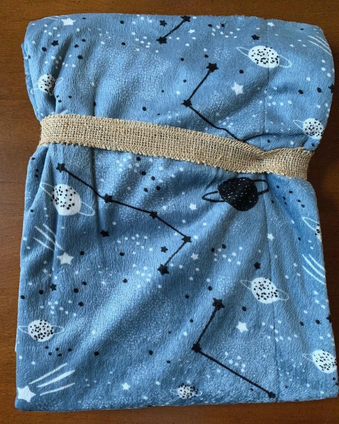 Lila Jack Blanket Blue/Gray Black Stripe