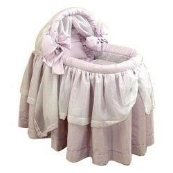 "BabyDoll Lime Wonders Liner/Skirt and Hood, Pink, 15"" x 30"""