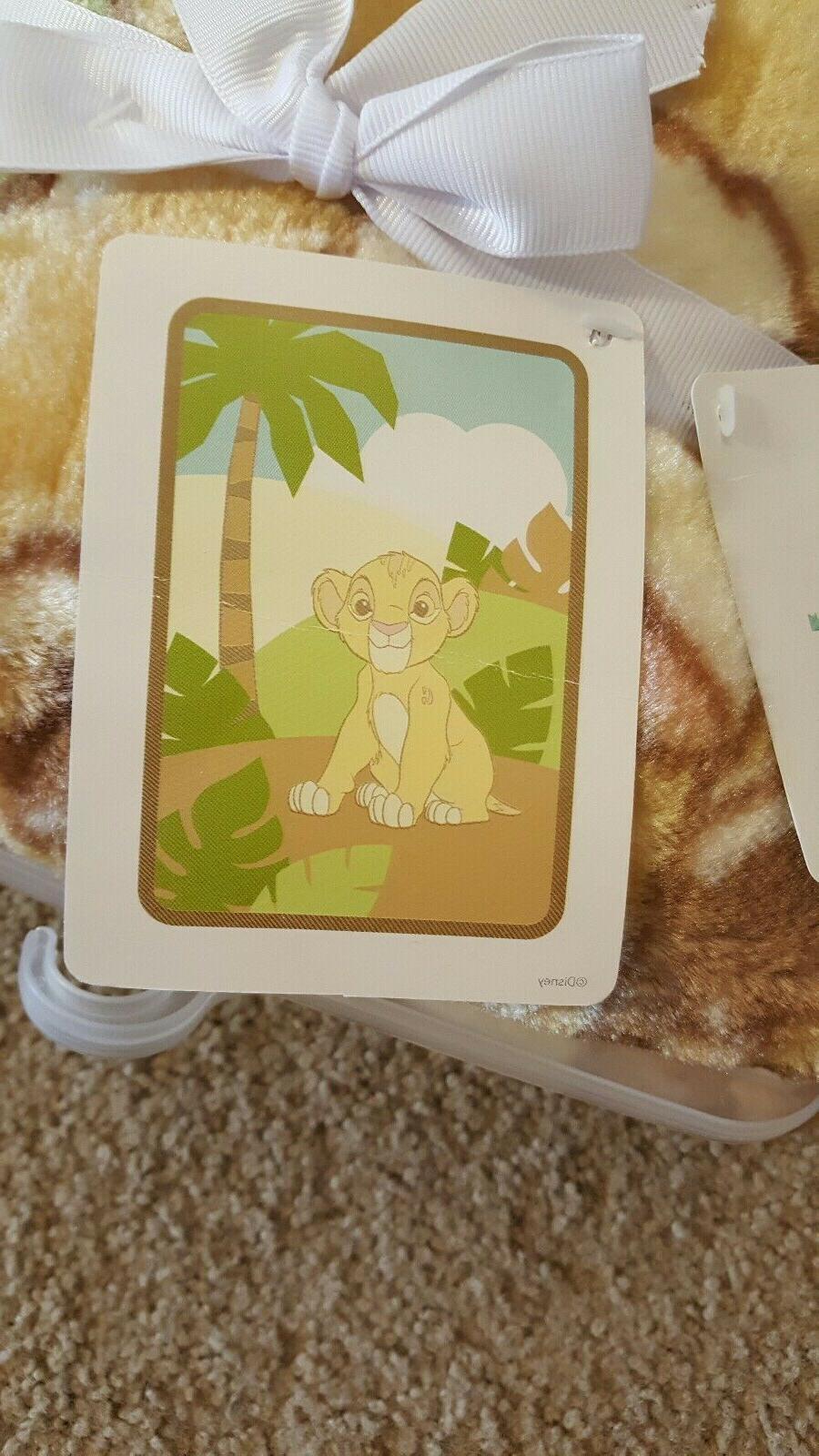 lion king simba luxury plush baby blanket