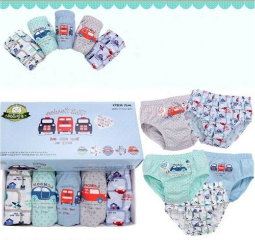 5 of Pack Toddler Boys' Cotton Underwear Car Vehicles Briefs