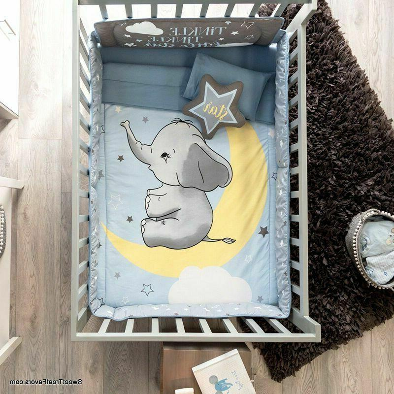 Little ELEPHANT Boys CRIB SET Gift Nursery PIECES