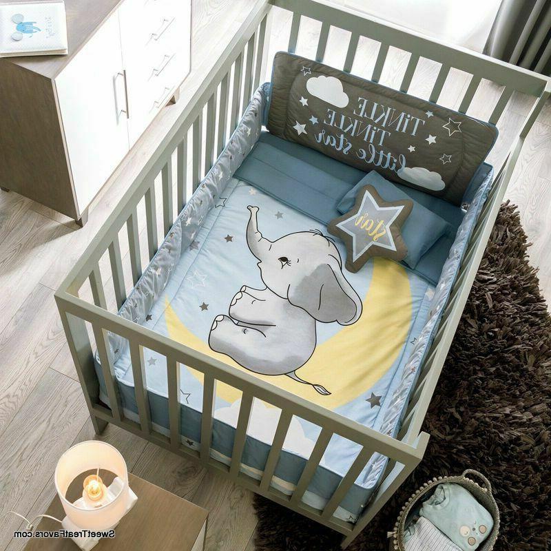 little elephant baby boys crib set beddg