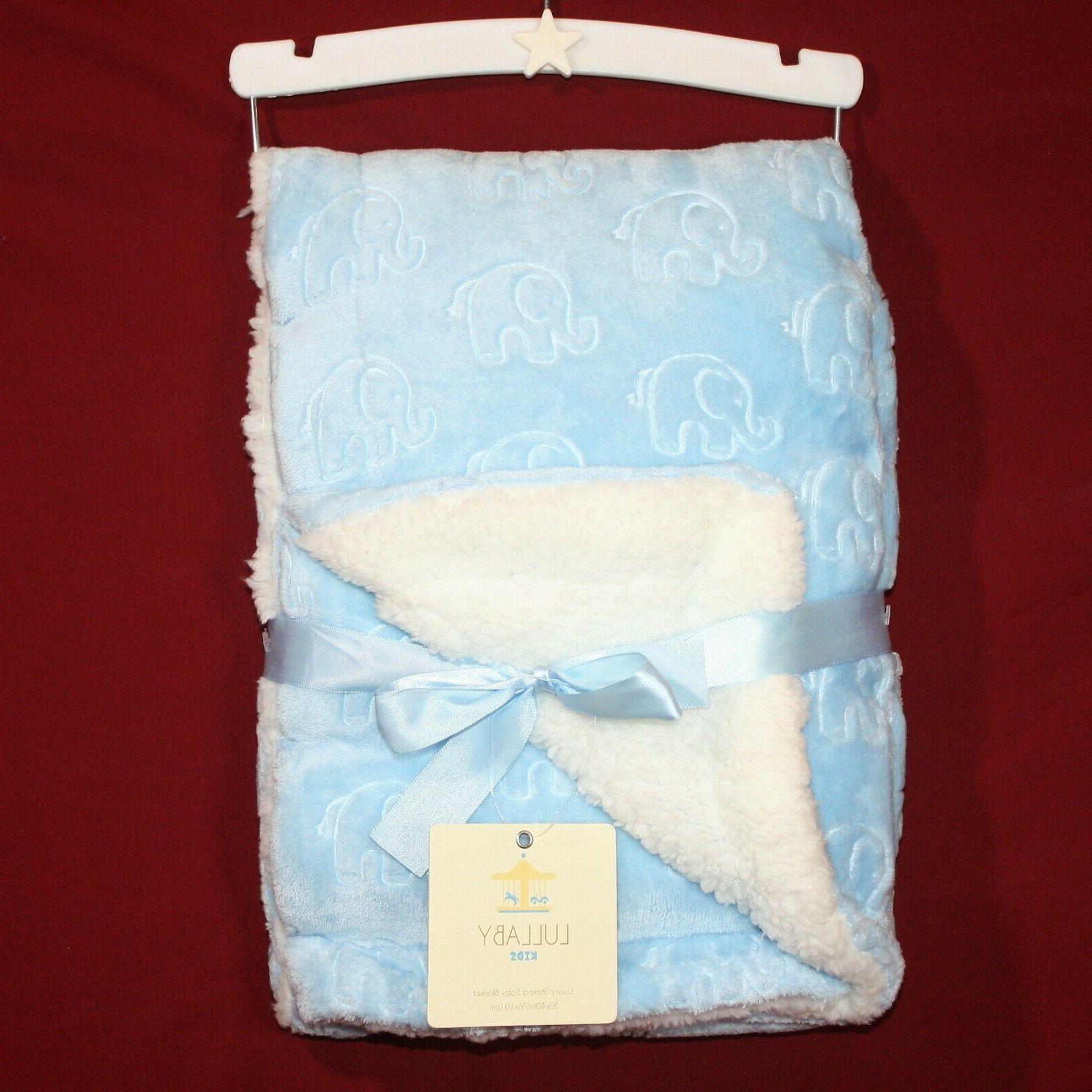 lullaby kids luxury sherpa baby blanket blue