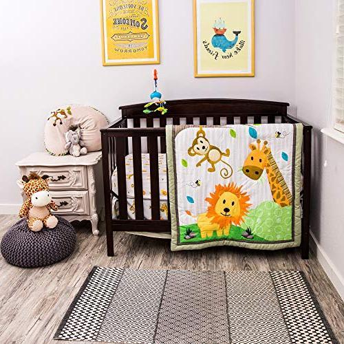 luxurious zoo baby crib bedding