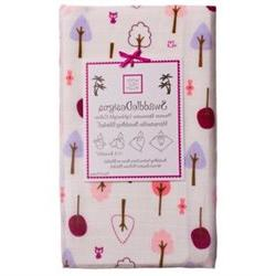 SwaddleDesigns Marquisette Swaddling Blanket, Cute and Wild,