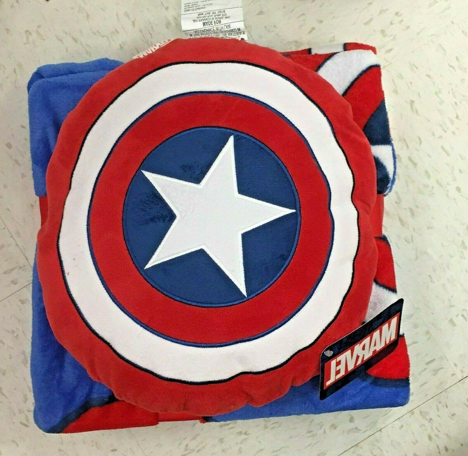 marvel avengers captain america throw blanket
