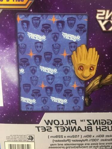 Marvel Guardians of the Galaxy Baby Groot Throw Blanket Set