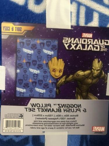 Marvel Galaxy Baby Groot Throw Blanket and Pillow Set