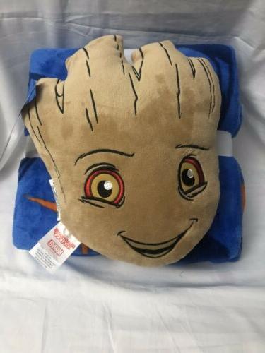Marvel Guardians of Galaxy Baby Groot Throw Blanket Set
