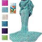 DDMY Mermaid Tail Blanket For Kids Teens Adult Handmade Wave
