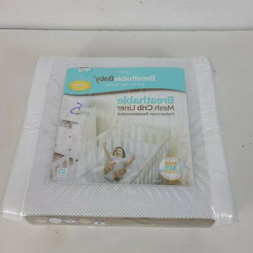 Breathable Baby Deluxe Embossed Mesh Cri By BreathableBaby 4961 Crib Liner