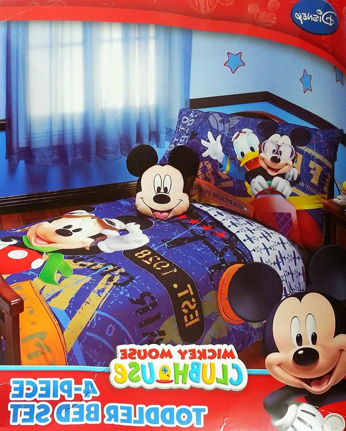 4 pc Disney Mickey Mouse Clubhouse Micky Flight Academy Todd