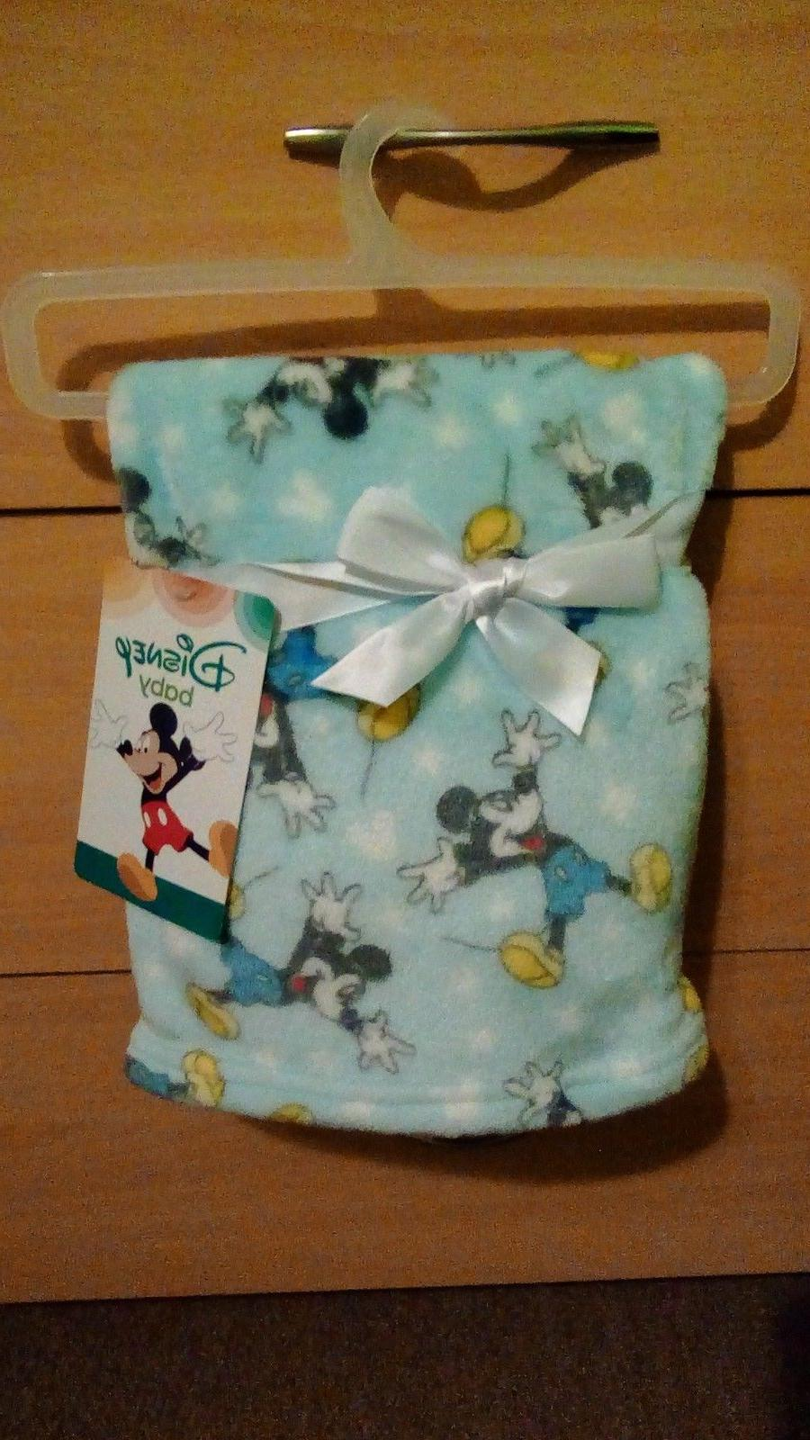 mickey mouse super soft flannel baby blanket