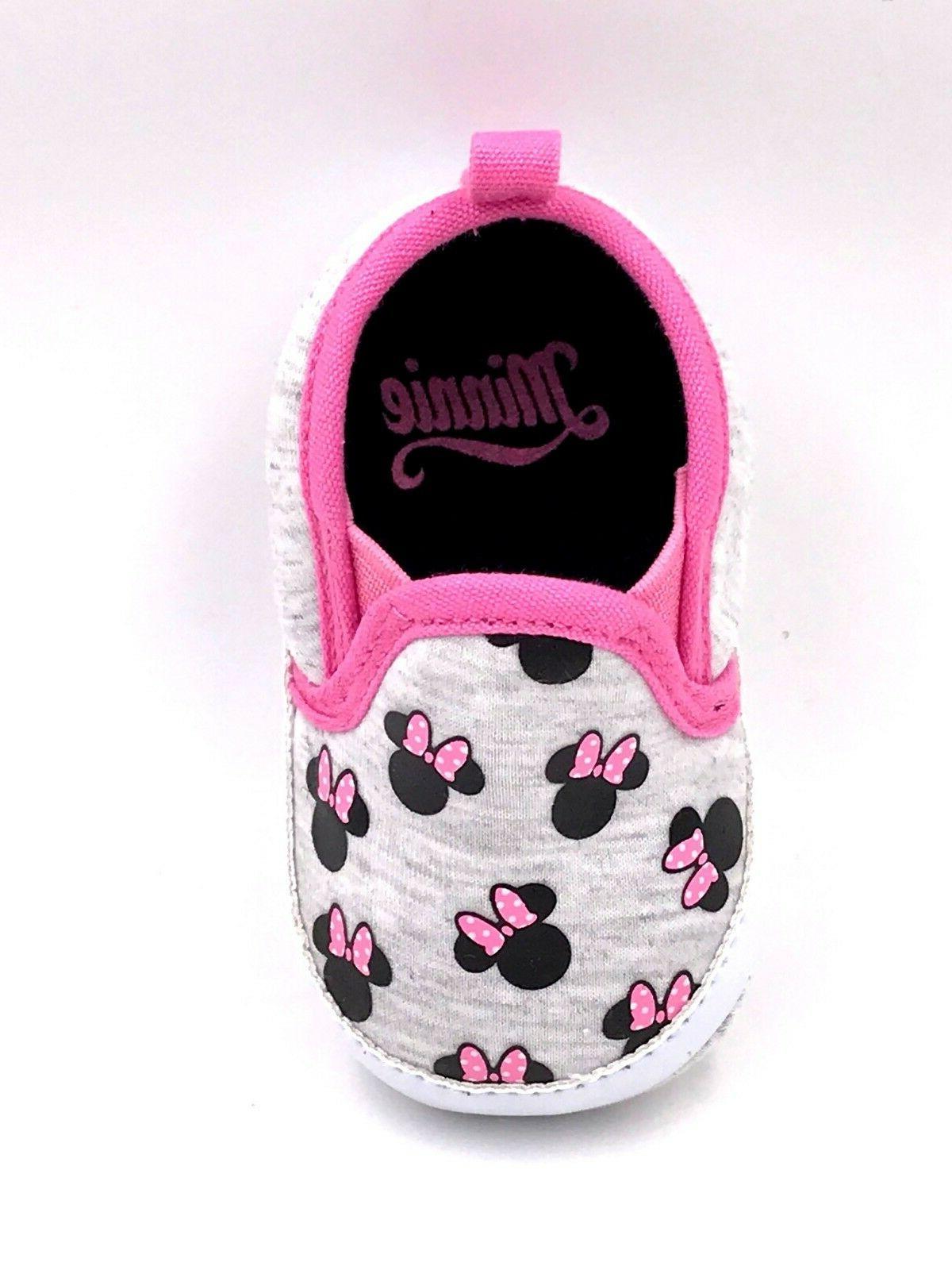 Disney Girls Newborn Infant Prewalker Soft Sole Crib