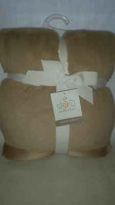 CoCaLo Mix & Match Lux Fur Baby Blanket Taupe, Stroller Blan