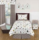 Sweet Jojo Designs Modern Blue Gray Fox Bear Kids Boys Bedro