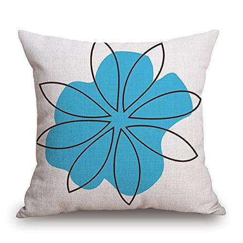 BLUETTEK Modern Simple Style Burlap Square Pillow Inches, of