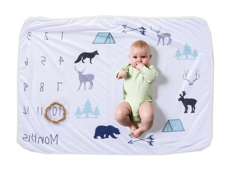 monthly baby milestone polar fleece blanket 1