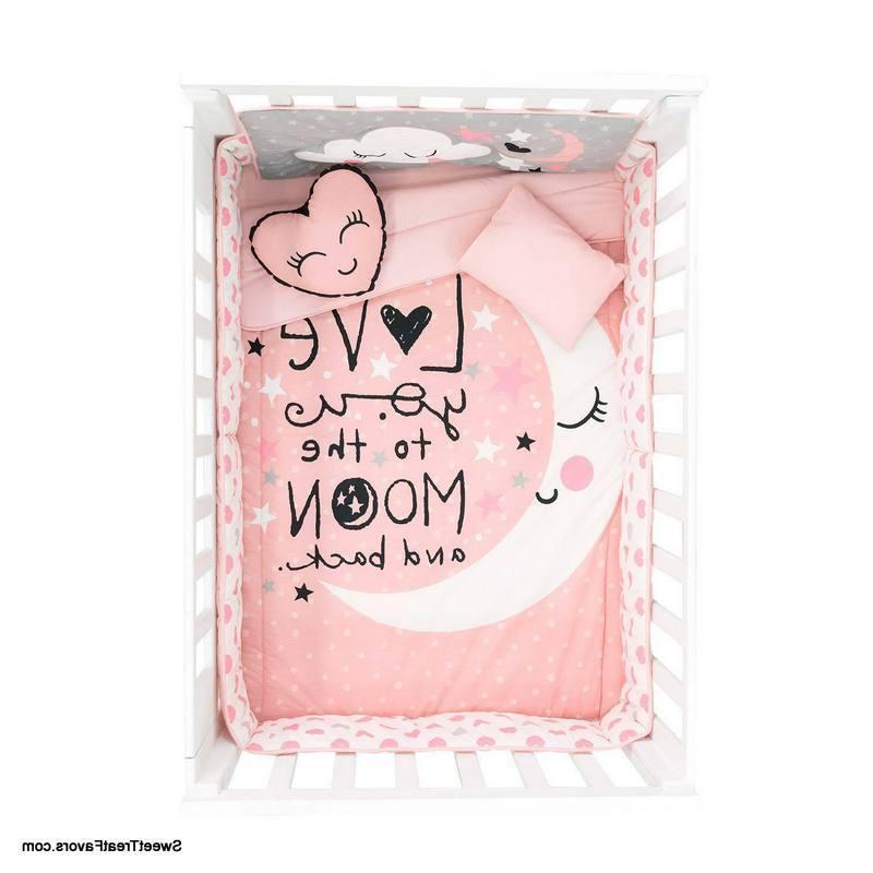 Moon Pink SET Bedding Comforter Shower COTTON