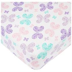 Babies R Us Multi Butterfly Knit Crib Sheet