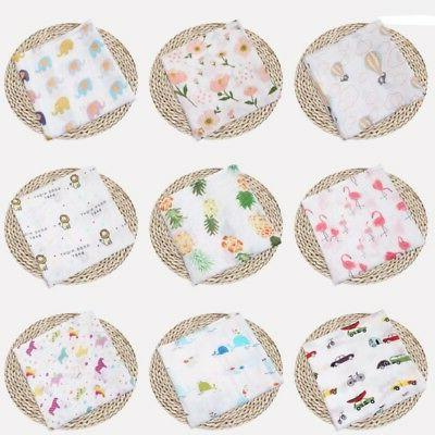 Muslin Baby Blanket Swaddle Cotton Bedding Blankets for Newb