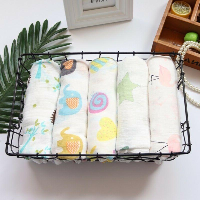 Muslin Baby Swaddle Cotton Flamingo Print For