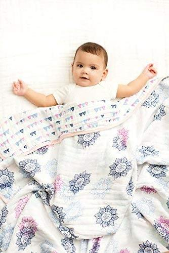 Aden by Aden + Anais Cotton 4 Lightweight and 44 X inch, Pretty