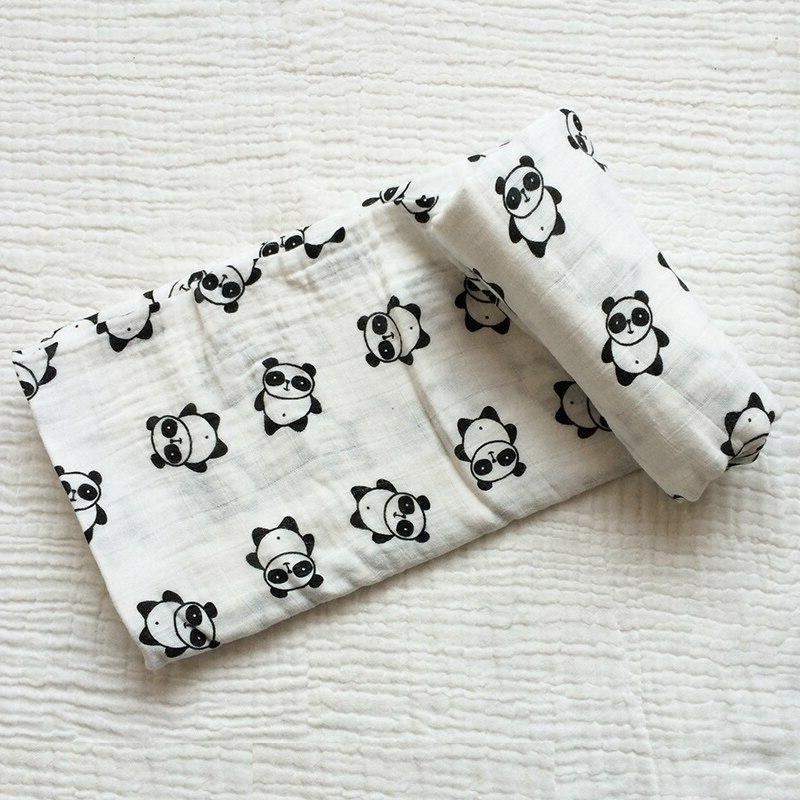 Muslin Cotton <font><b>Baby</b></font> Swaddles 120*120cm Soft Newborn <font><b>Blankets</b></font> Infant Stroller