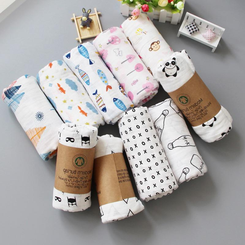 Muslin <font><b>Blanket</b></font> Cotton <font><b>Baby</b></font> Swaddles 120*120cm Newborn <font><b>Blankets</b></font> Infant Stroller