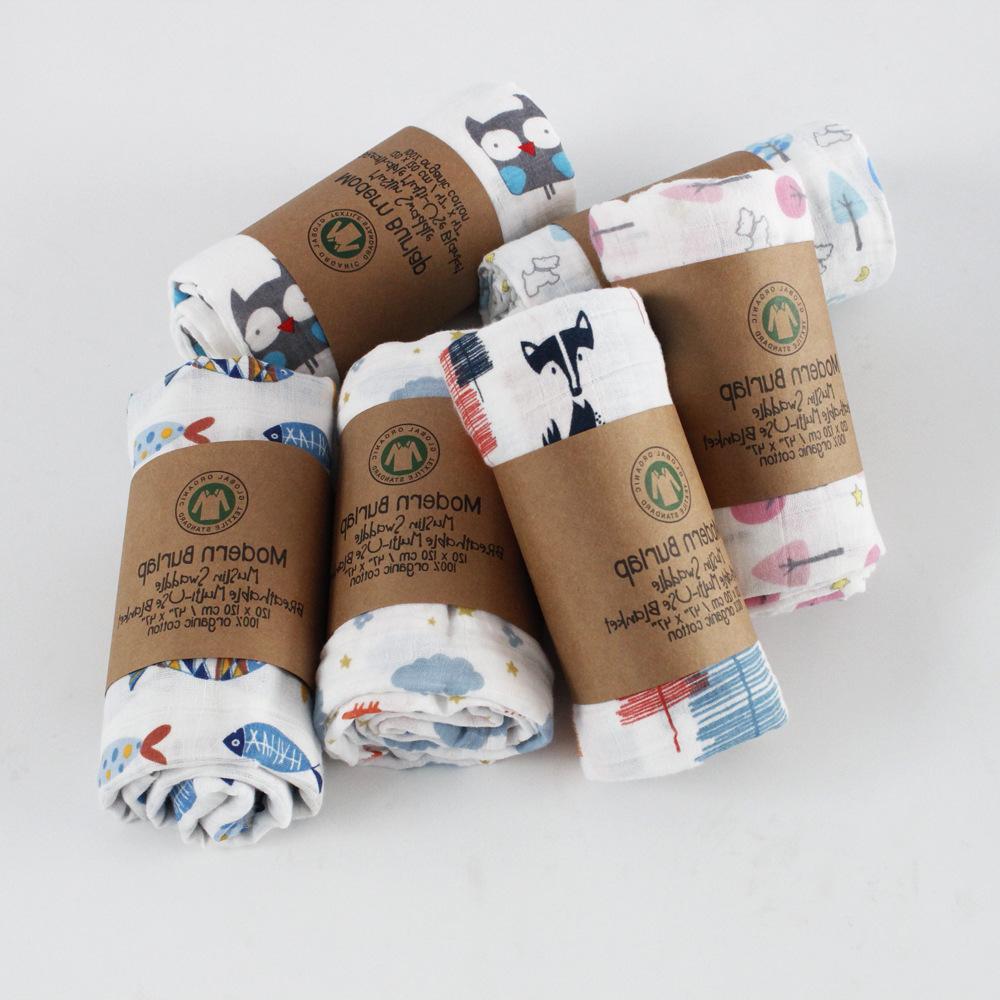 Muslin <font><b>Blanket</b></font> 100% Cotton <font><b>Baby</b></font> Swaddles Soft Newborn Bath Infant Stroller Cover