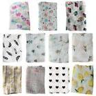 Muslin Organic Cotton Blanket Newborn Infant Swaddle Baby Ki