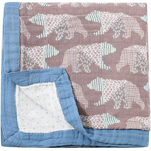 """LifeTree for - Baby Blanket Large 45"""" Bear Bamboo Everything Blanket"""