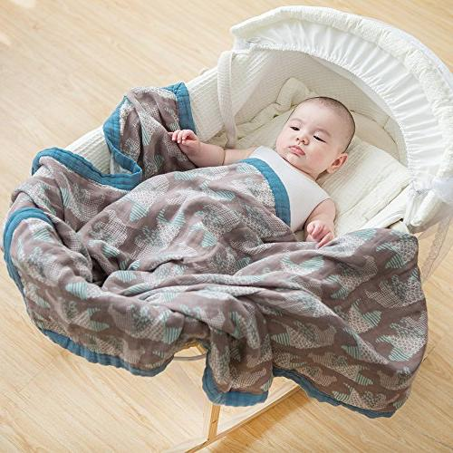 LifeTree for Boys - Layers Baby Large Bear Bamboo Blanket
