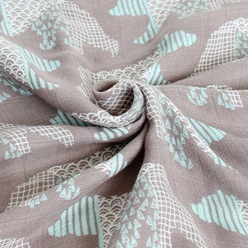 "LifeTree Muslin for or - 2 Baby Stroller Blanket - Large 45"" 45"" Bear Print Bamboo Blanket"