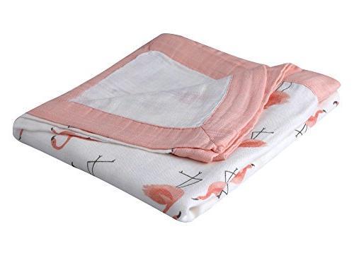 """Bamboo Muslin - 47"""" Muslin Blankets Baby"""