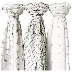 Muslin Swaddle Blankets-Large-48X48-Organic-Unisex-with a Gi