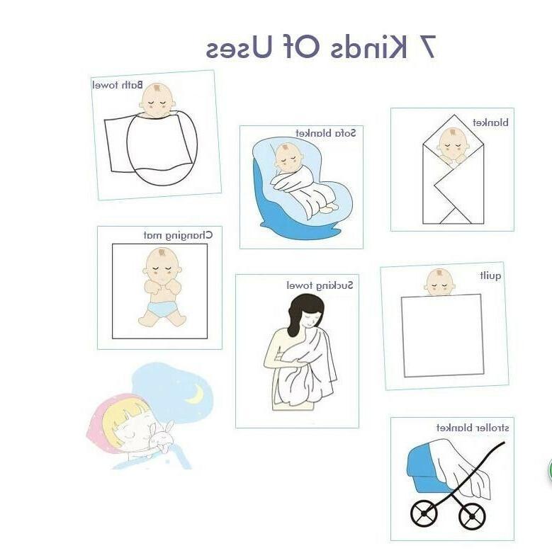 Musnlinfe Newborn Swaddle Cotton Muslin Blanket Breathable