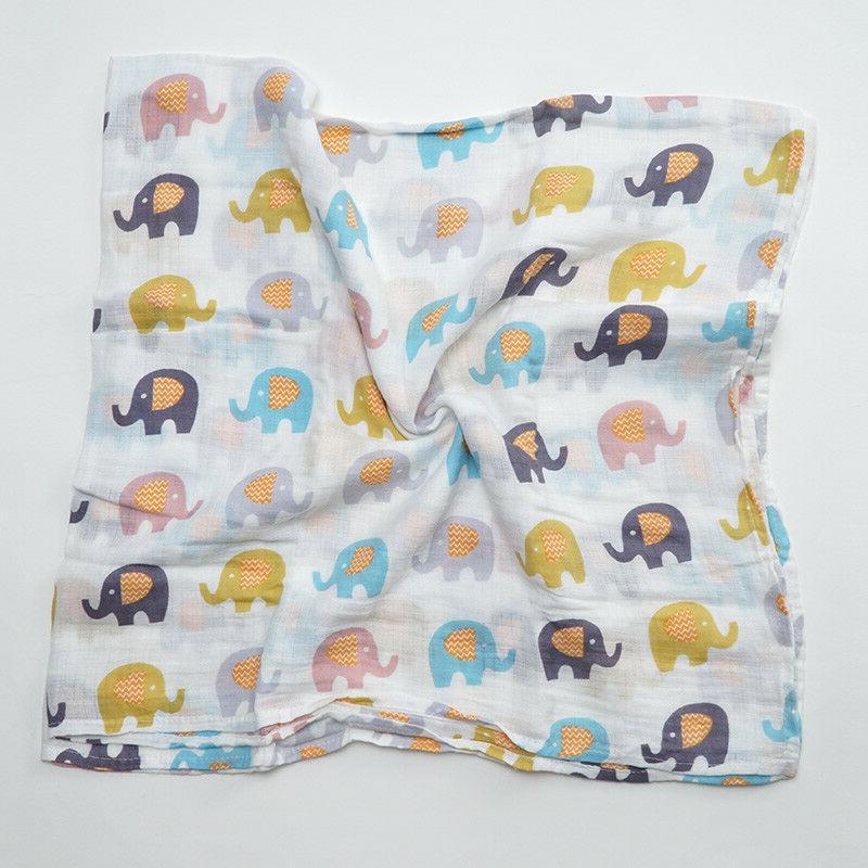 Musnlinfe Cotton Baby Blanket Newborn Muslin Blanket