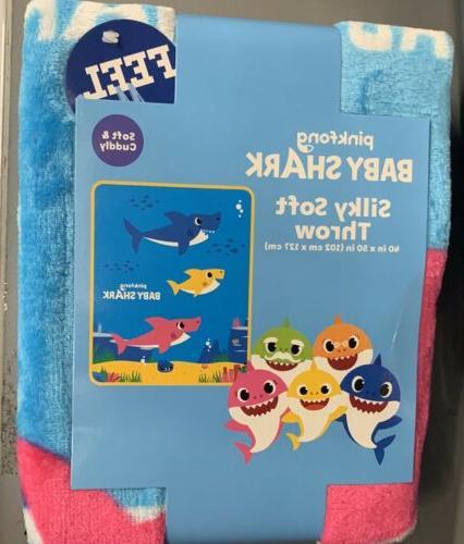 new 2019 baby shark blanket throw large